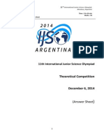 IJSO 2014 exam-Theory Questions Answer Sheets