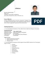 CV of Md. Atik Ullah Bhuiyan Photo As