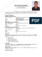 CV of ZAHED new