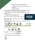 Visualiser et récupérer les données des formulaires