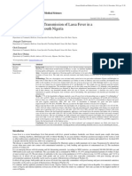Housing Factors and Transmission of Lassa Fever in a Rural Area of South-south Nigeria