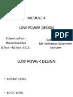 low power design logic level