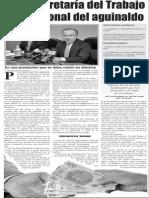 20-12-2014 Pide Secretaría del Trabajo uso racional del aguinaldo