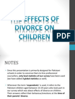 The Effects of Divorce on a Child