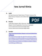 Reviev Jurnal Life Cycle Assessment Pabrik Semen PT. Holchim Indonesia