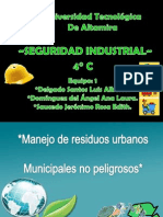 Manejo de Residuos Urbanos Municipales No Peligrosos. 4C Equipo 1. Saucedo, Domínguez, Delgado.