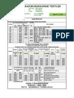 Yarn Price List 01.12.2014