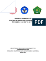 Pedoman Pelaksanaan Upacara Bendera Hgn 2014