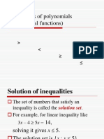 Inequalities of Polynomials
