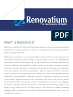 Radionics — Renovatium