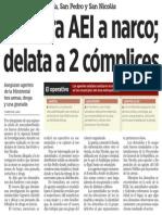 30-12-2014 Captura AEI a narco; delata a 2 cómplices