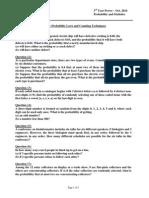 Sheet 2 Prob