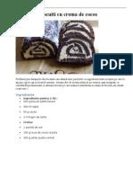 Rulada de Biscuiti Cu Crema de Cocos