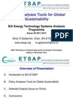 Policy Analyses Tools for Global Sustainability