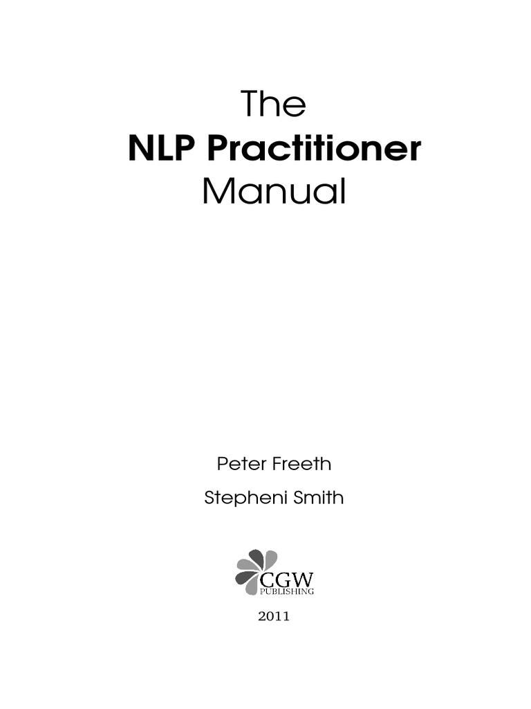 sample nlp practitioner manual neuro linguistic programming rh scribd com nlp practitioner manual nlp comprehensive practitioner manual pdf download