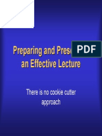 Presentation on Preparing an Effective Lecture