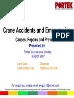 Crane Accidents study