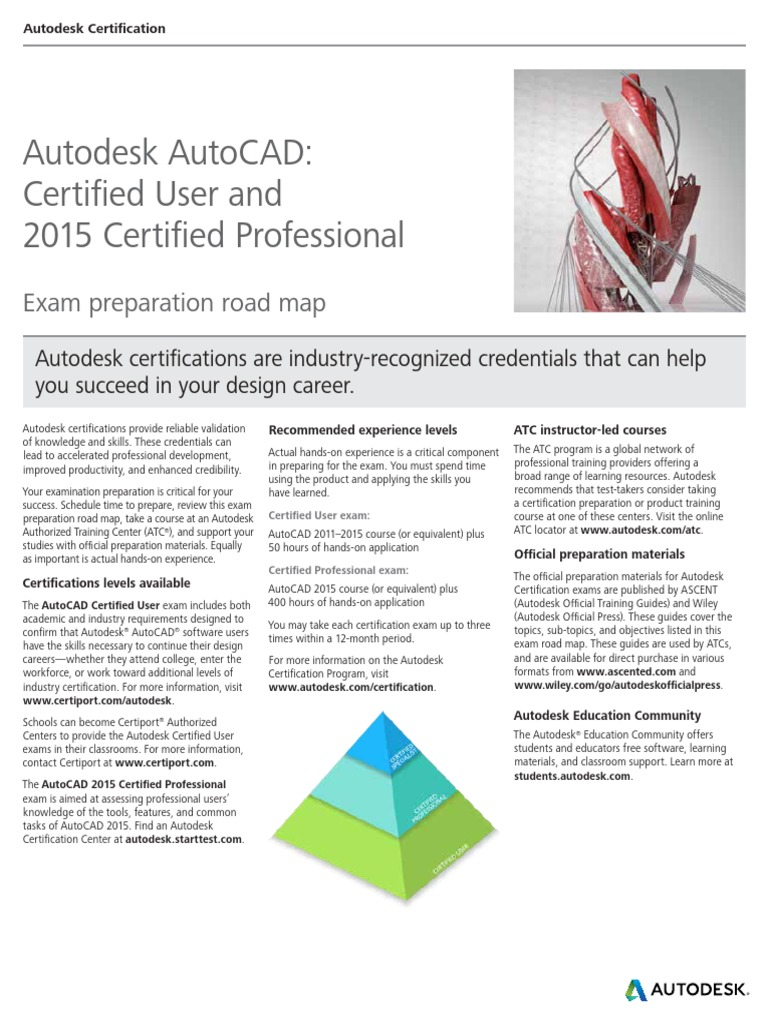 Autodesk Autocad 2015 Certification Roadmap Autodesk