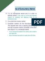 Characteristics of Euro