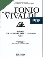 Vivaldi Sonata RV3 C