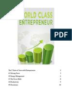 World Class Entrepreneur