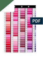 DMC Colour Chart