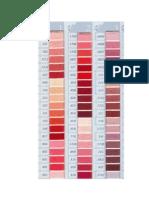 DMC Colour Chart 1