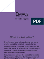 Emacs Lecture