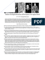 History of the English Reformation and Development of the Anglican Church