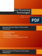Fruit Juice Processing Technologies
