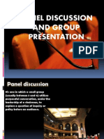 Panel Discussion and Group Presentation