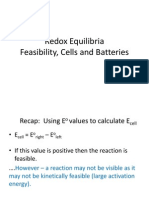 REDOX - Feasibility, Cells and Batteries