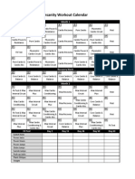 Insanity Workout Calendar Simple