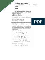 SOLUCIONES_ACTIVIDADES-4o-ESO-TEMA-0el Saber Cientifico. Las Ciencias Experimentales