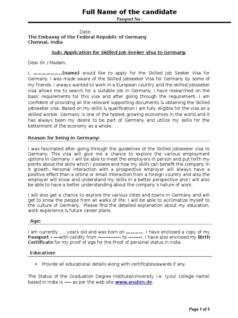 Sample cover letter travel visa rsum thecheapjerseys Image collections