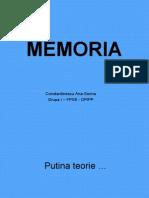 Prezentare MEMORIA