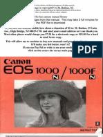 Canon EOS 1000fn user manual
