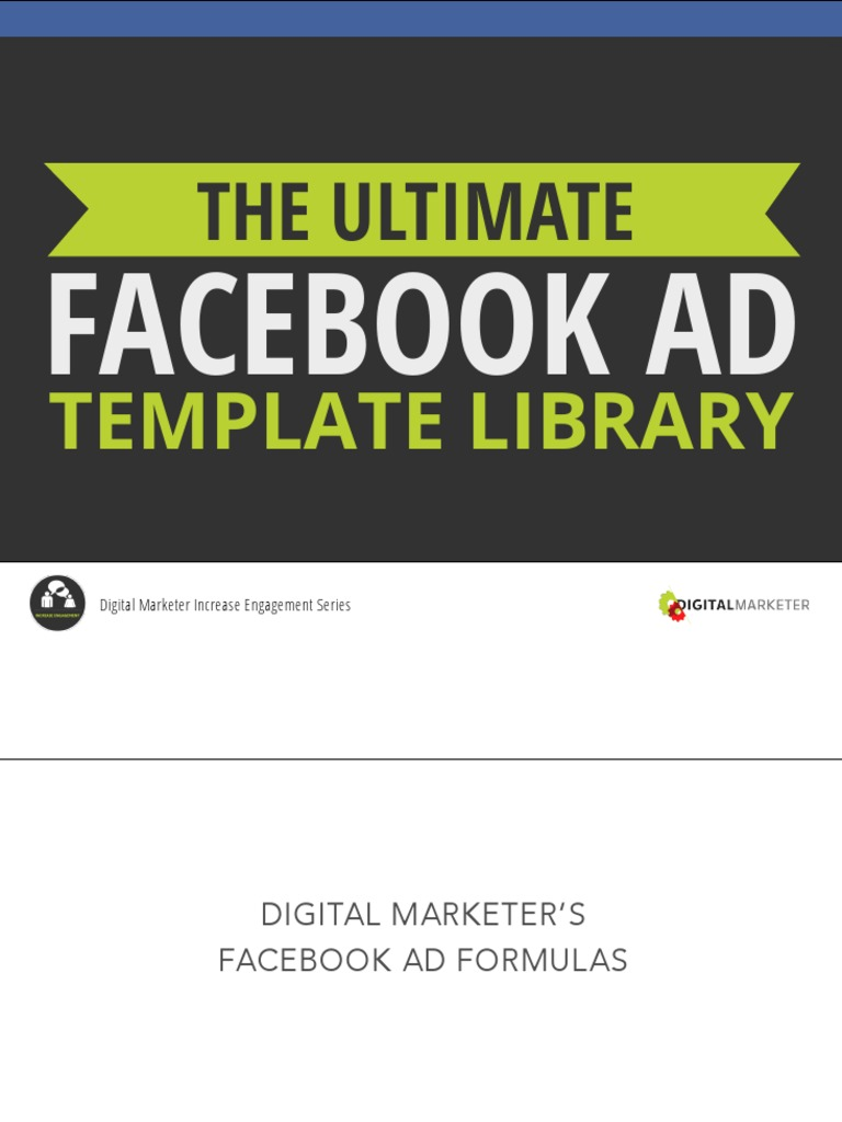 Ultimate Facebook Ad Template Library Advertising Facebook