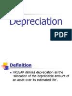 Depreciation of asset