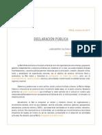 Declaración Publica Septiembre 2014 Cvc Chile
