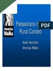 Pedestrians in Rural Context