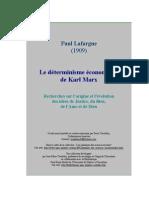 Paul Lafargue, Le Détérminisme Économique de Karl Marx