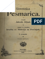 slovenska pesmarica Jakob Aljaž