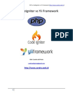 PHP vs CodeIgniter vs Yii Framework