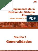 Reglamento De la Gestion del Sistema educativo
