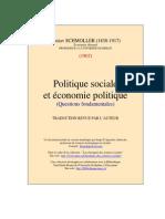 Gustav SChmoller,P Olique Sociale Et Politique Economique