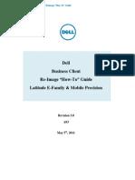 Latitude E-Family Mobile Precision Re-Image How-To Guide - A03 Rev 3 0