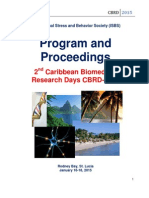 Program - Caribbean Biomedical Research Days CBRD-2015, St. Lucia, Jan 16-18, 2015