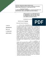 Mensaje de Presentacion Proyecto Ley Tribunales de Familia