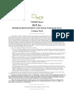 HCP DRIP Prospectus Supplement (07.24.12)